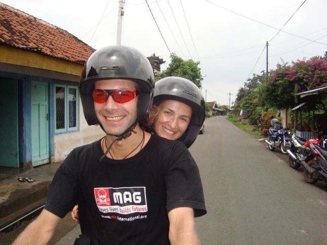 scooting around bali