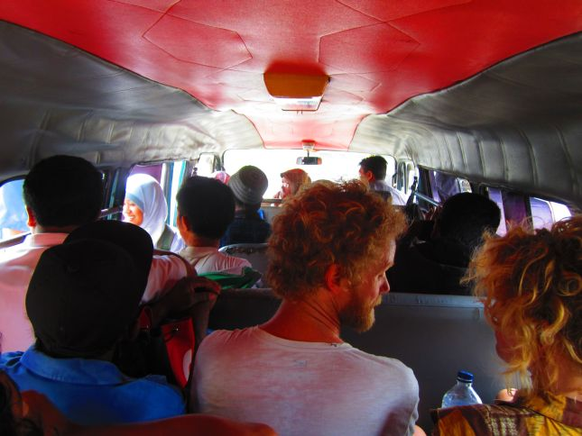 Minibus journay from Probolinggo to Ngadisari