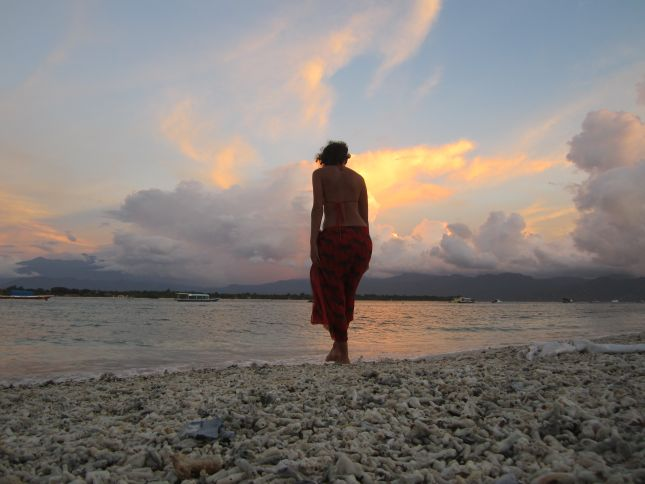 Gili Trawangan beach sunset