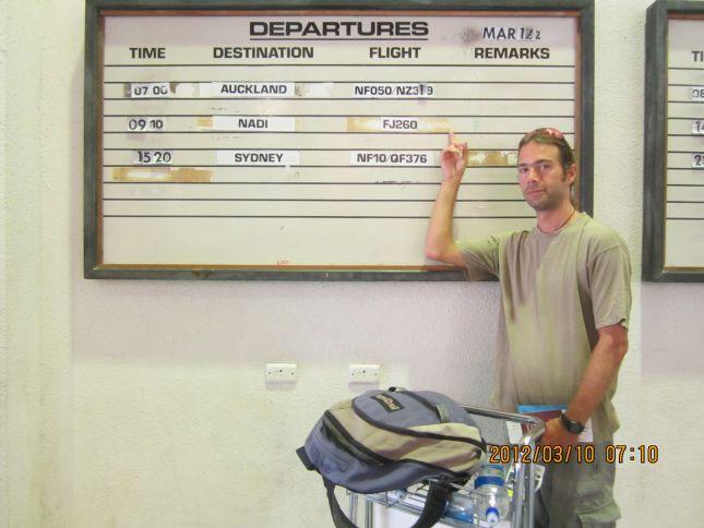 vanuatu airport departures board